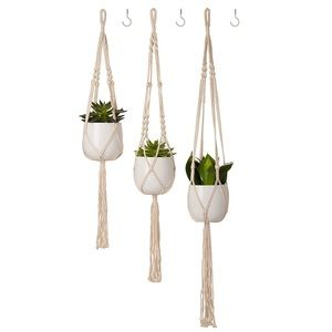 Macrame Hanging Plant Shelf Indoor Decor